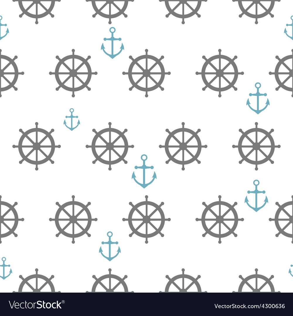 Seamless pattern with gray rudders