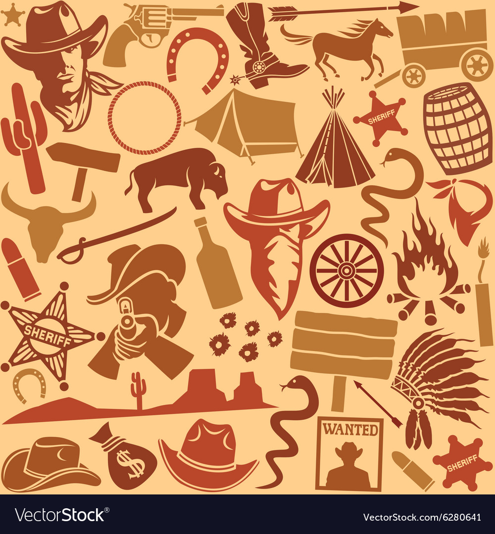 Cowboys icon seamless vector image