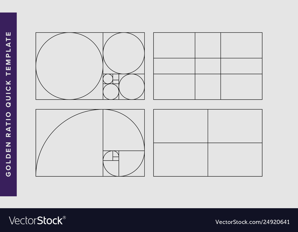 image about Golden Rule Printable referred to as Golden ratio layout template vector impression