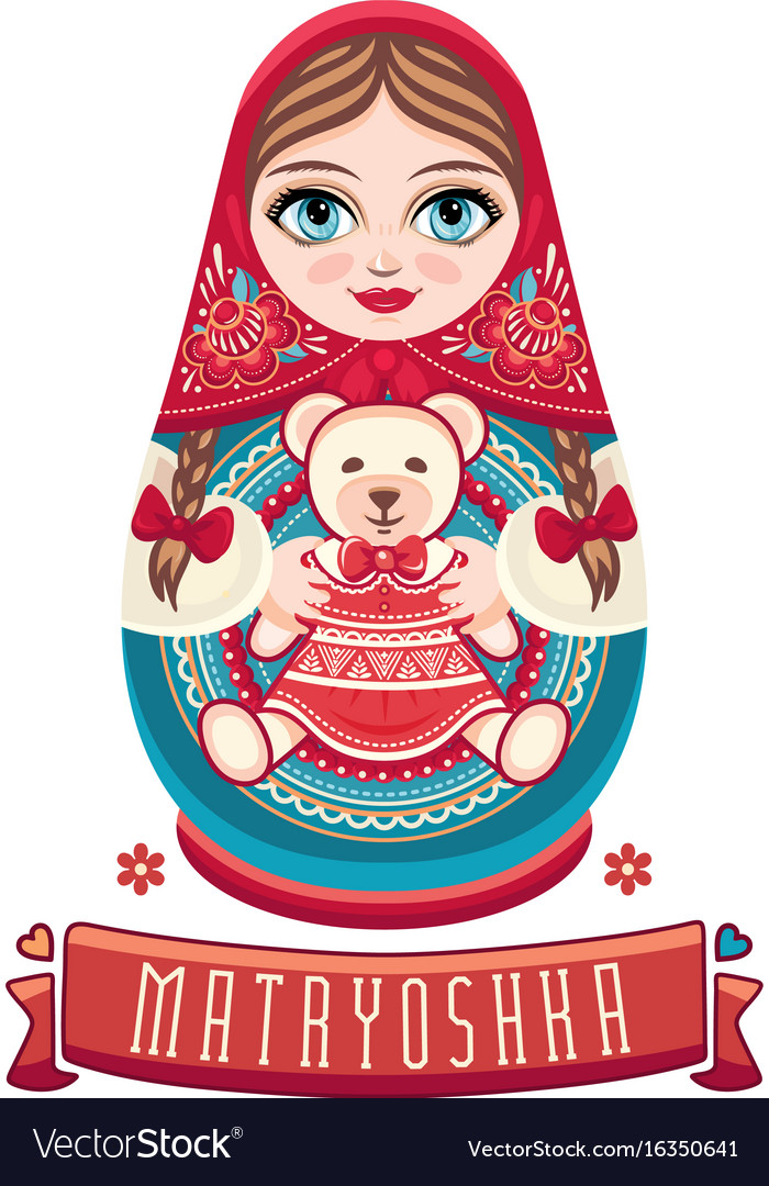 Matryoshka babushka doll set