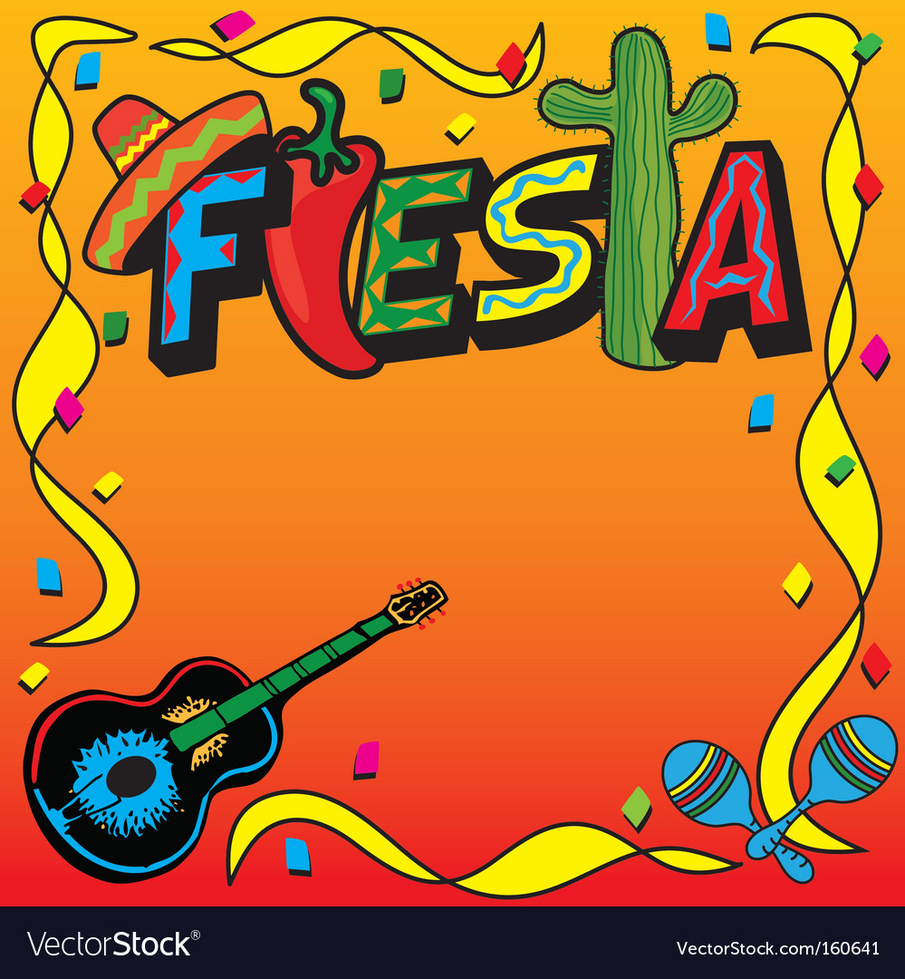 mexican fiesta party invitation royalty free vector image