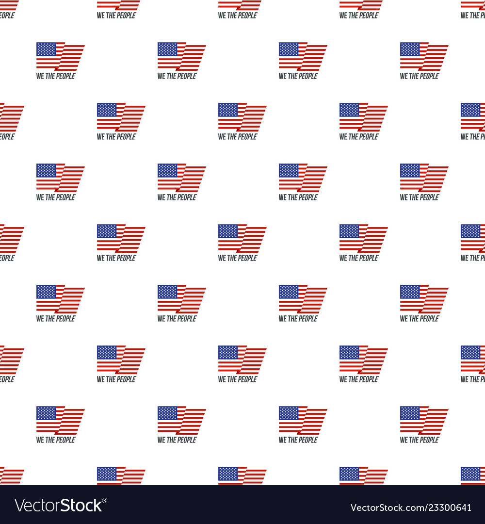 Usa we the people pattern seamless