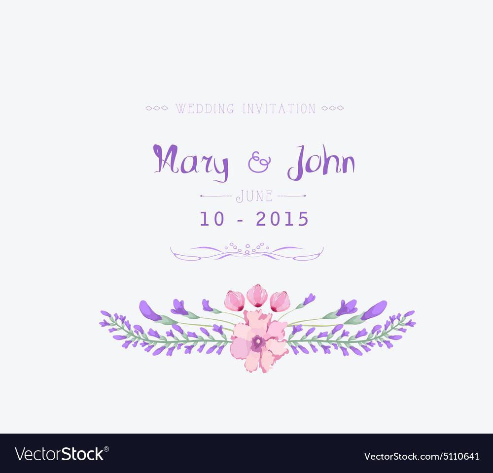 Wedding invitation watercolor Beautiful floral