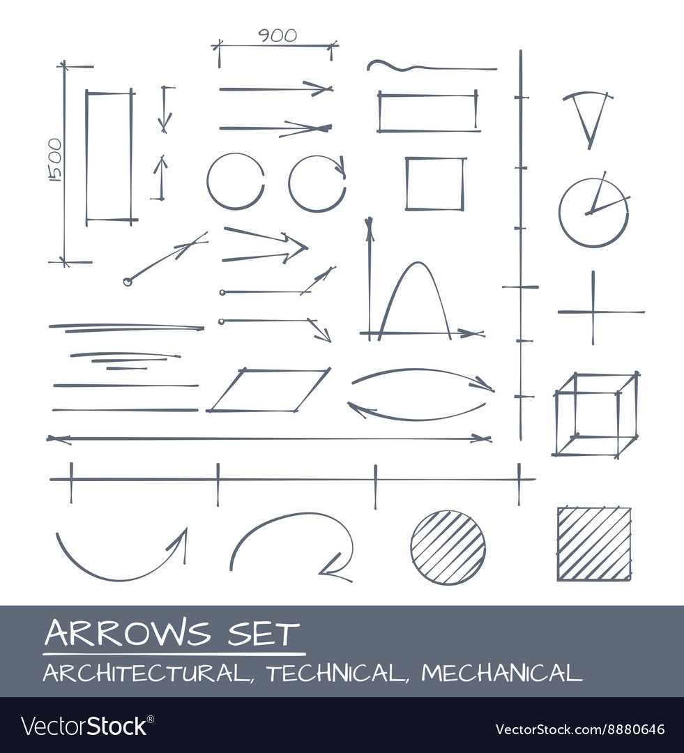 Arrows set drawing