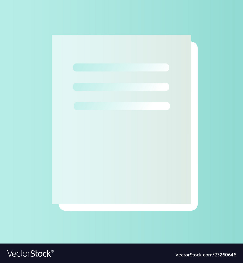 Doc file icon text document type modern design