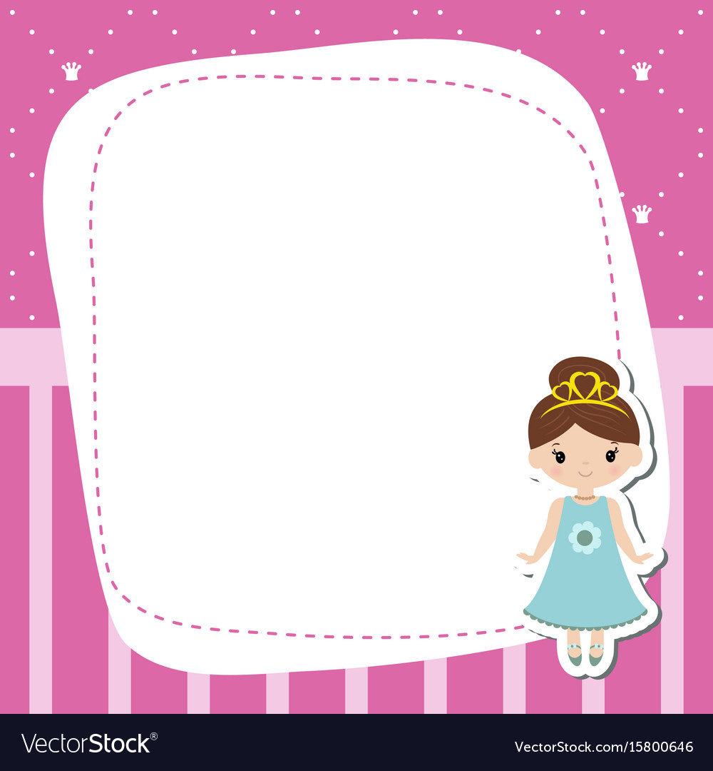 Greeting card with beautiful princesses greeting