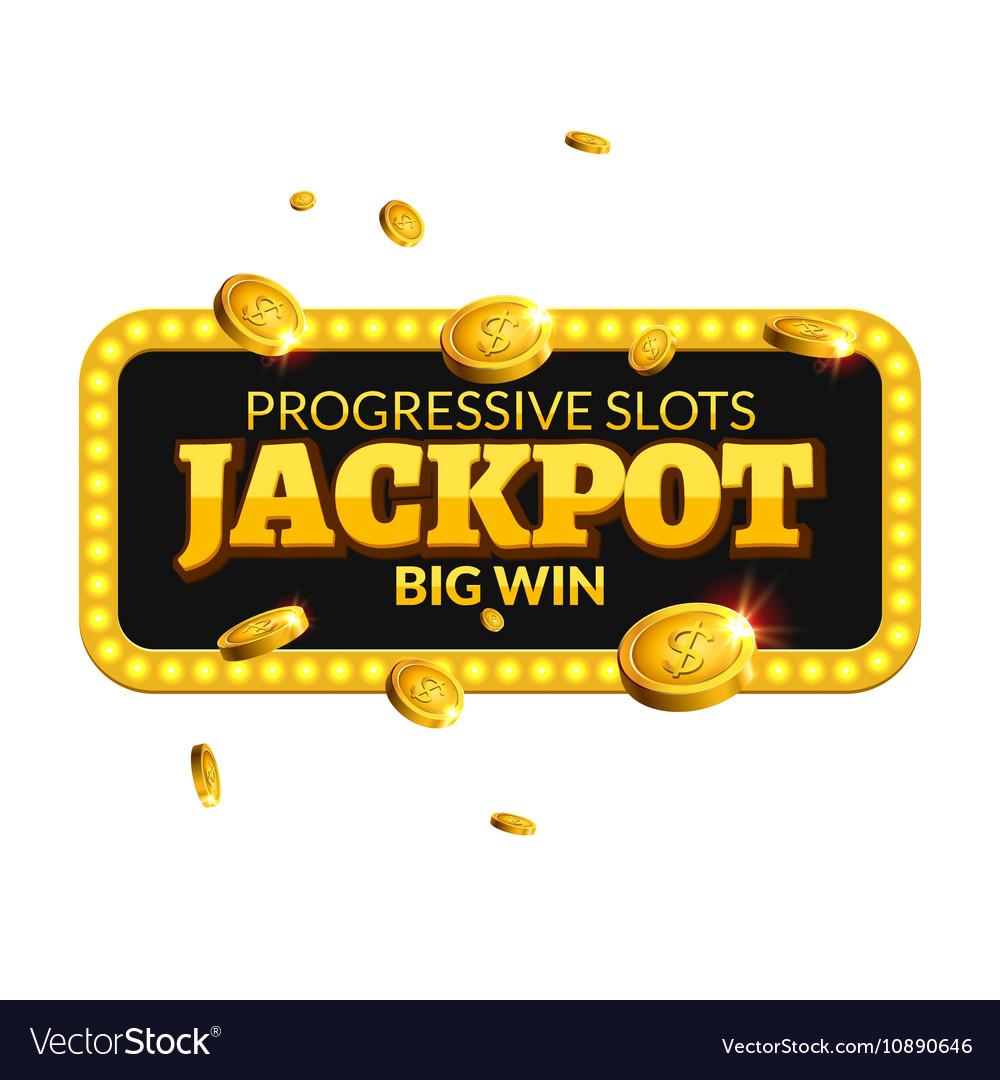 Jackpot casino label background sign Casino