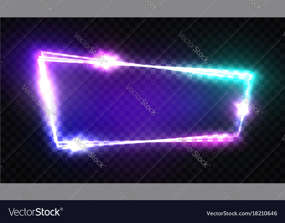 Night club neon sign blank retro light signboard
