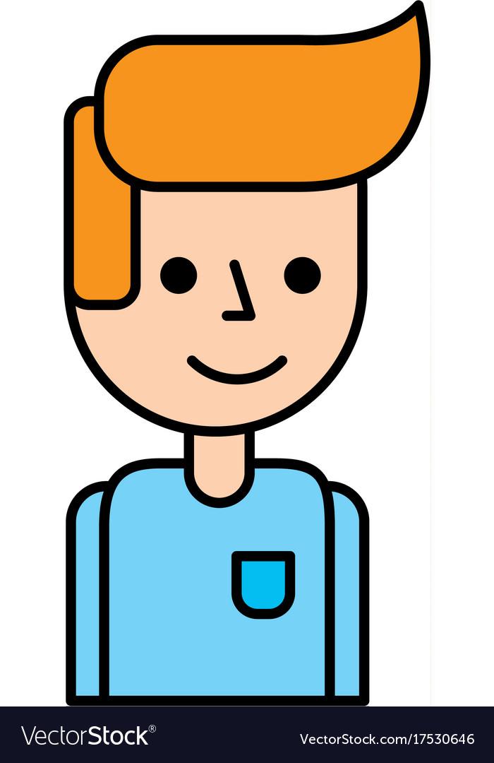 Portrait Cartoon Man Business Manager Avatar Vector Image