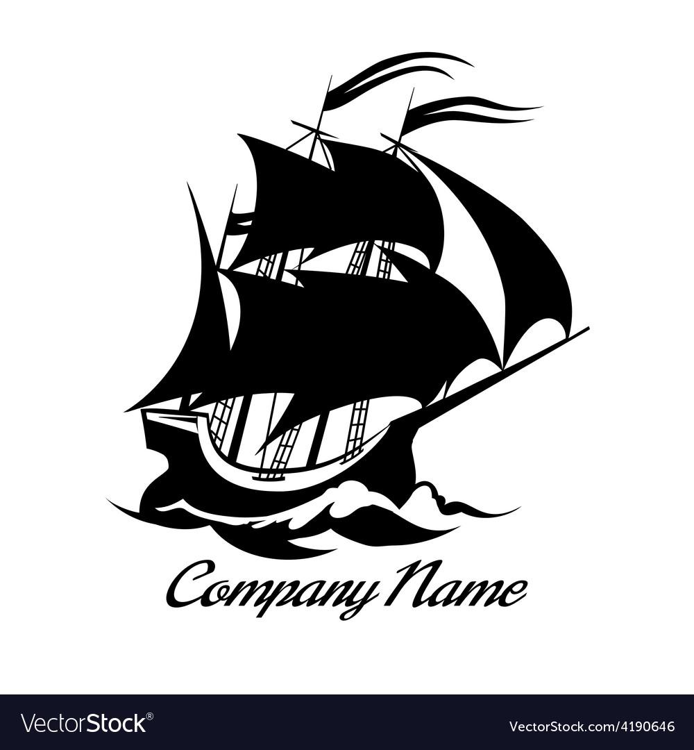 Sail boat logo icon
