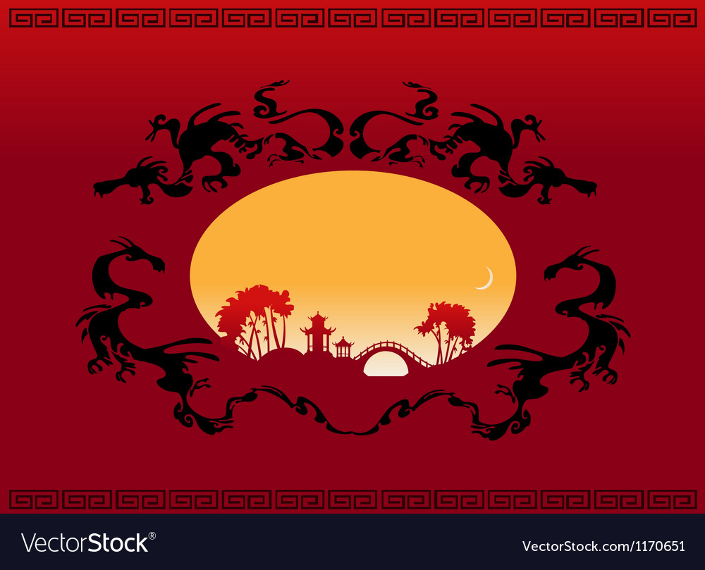 abstract asian landscape royalty free vector image