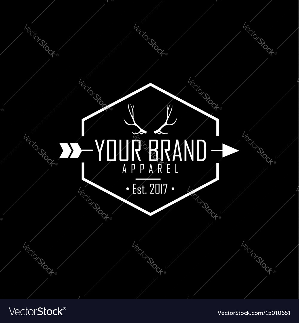 Apparel logo clothing brand deer antlers logo