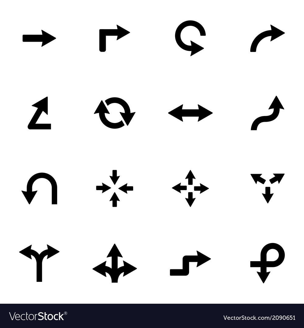 Black icon arrows icons