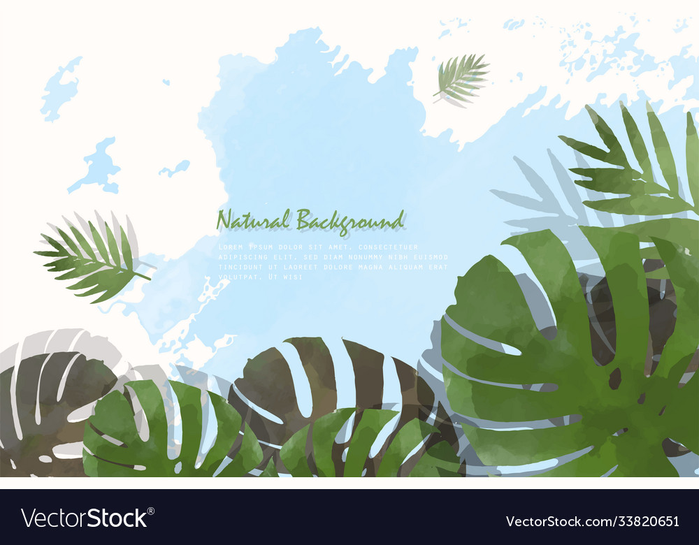Creative nature background or banner design eps10