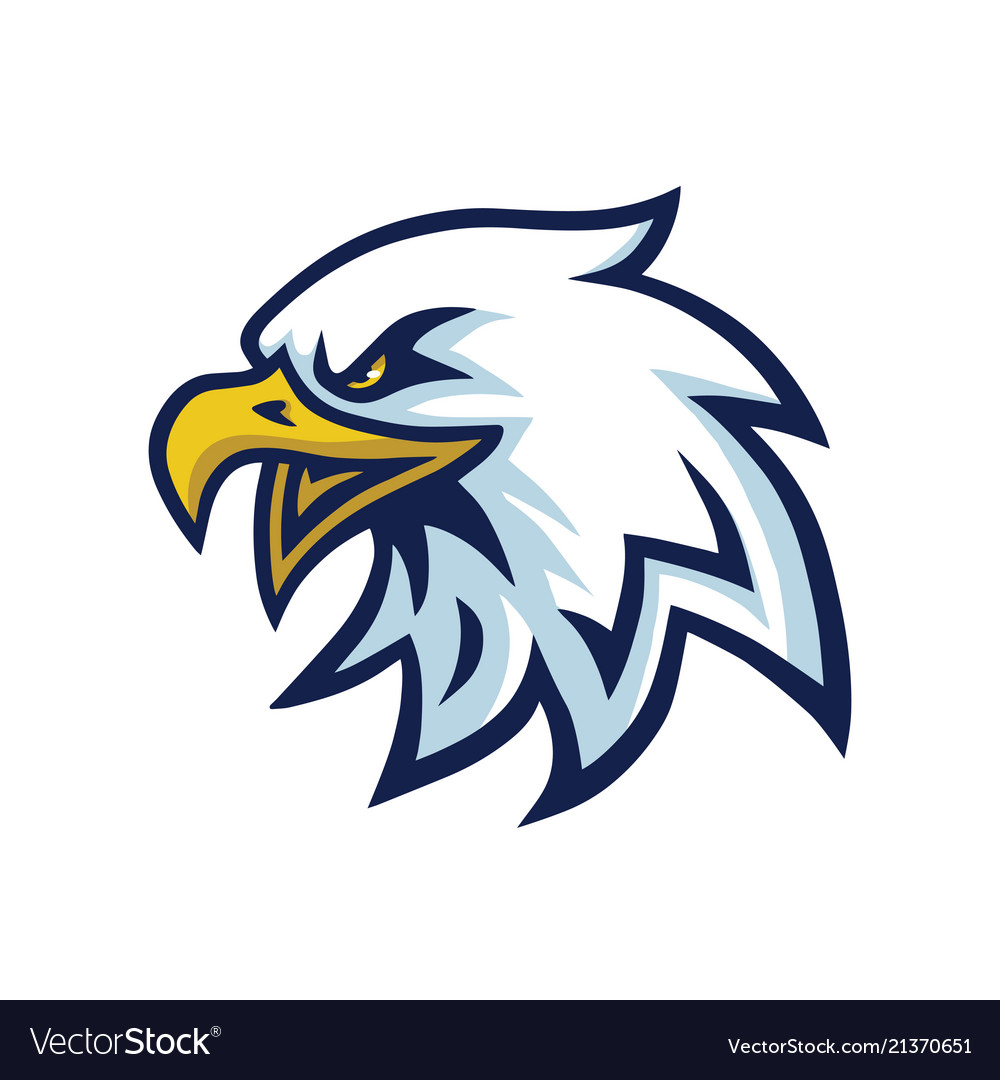 Eagle head mascot logo template