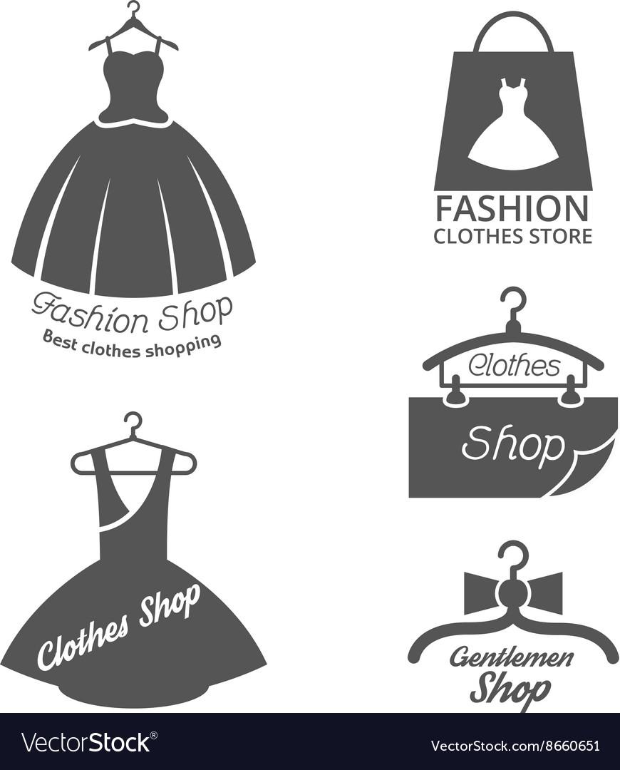 Fashion shop logos labels set