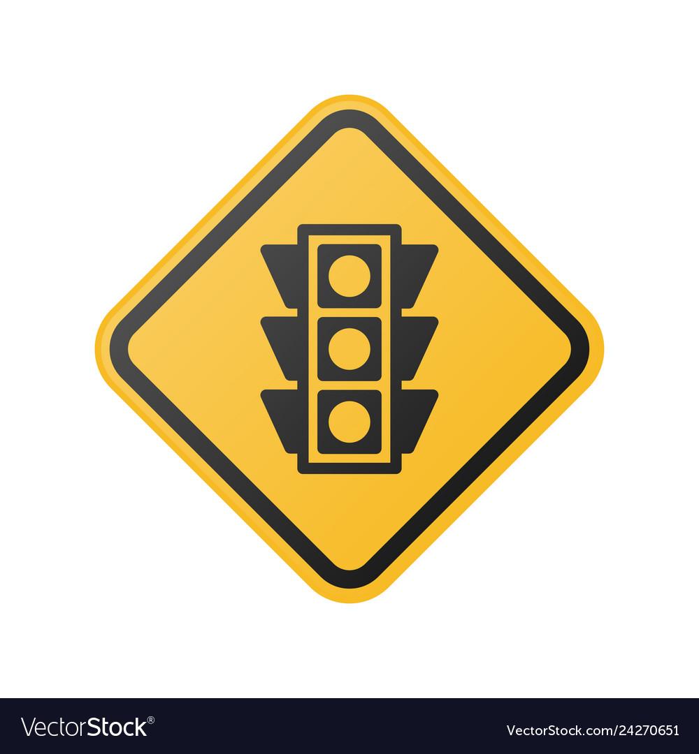 Glossy light traffic sign