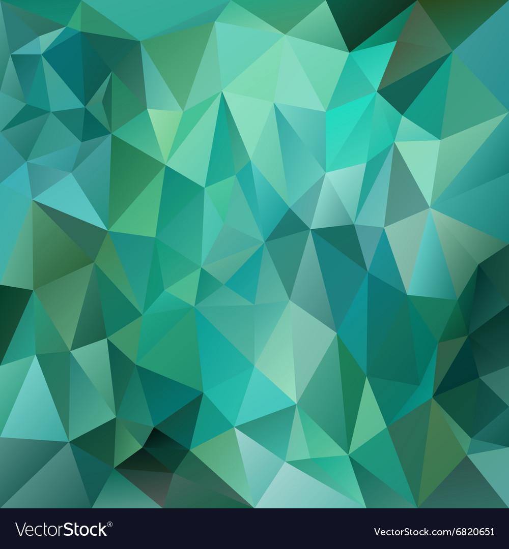 Green emerald polygon triangular pattern