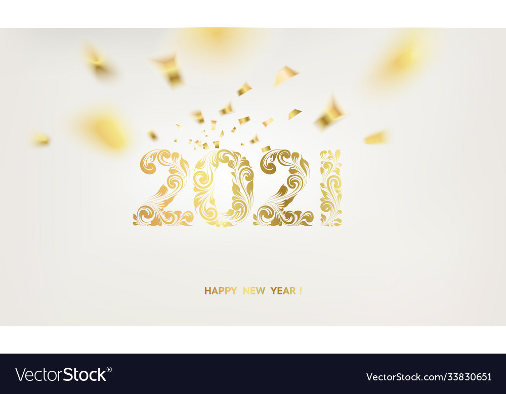 Happy new year card over gray background