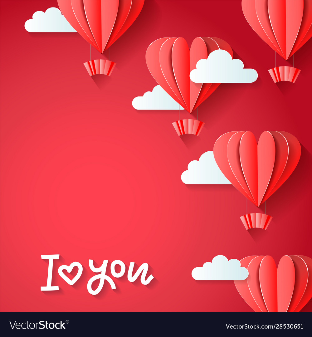 I love you - valentines day greetings card design