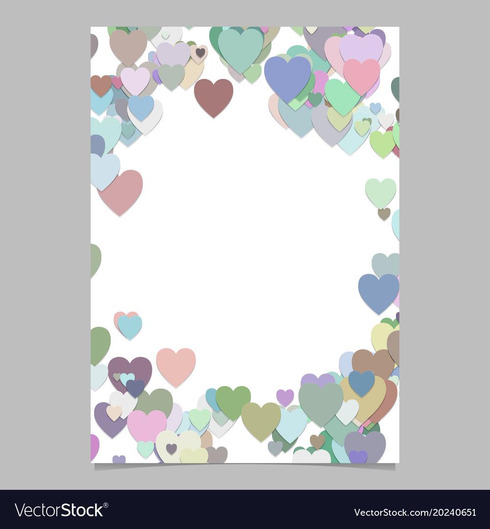 Multicolored random heart page background design