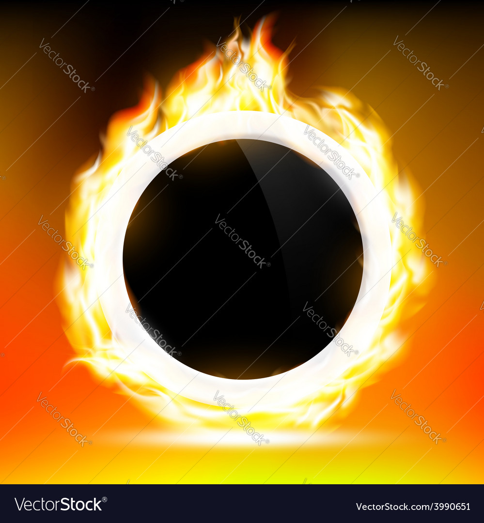 Great Ring Of Fire Vector Image
