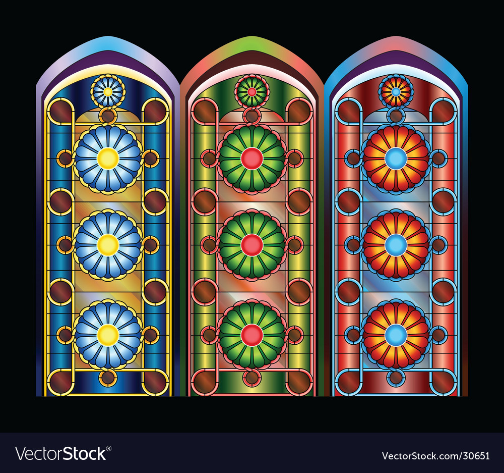 Stained Glass Windows Royalty Free Vector Image