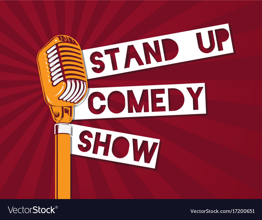 Modern Exhibition Stand Up Comedy : Stand up comedy microphone on royalty free vector image