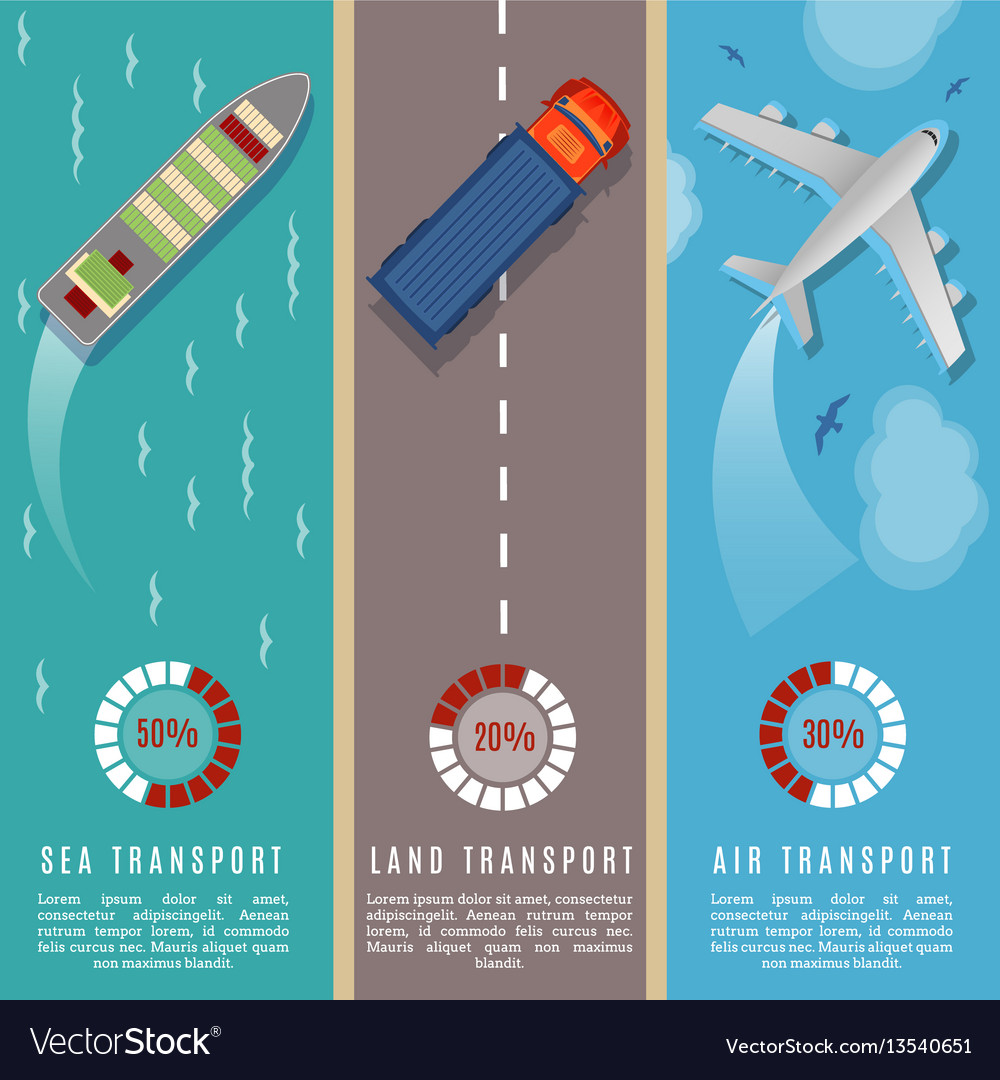 Transportation top view infographics