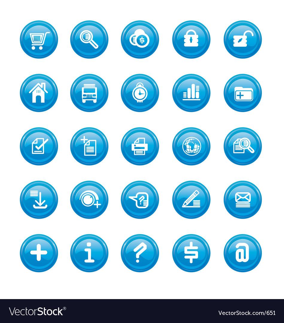 Web icons blue gloss