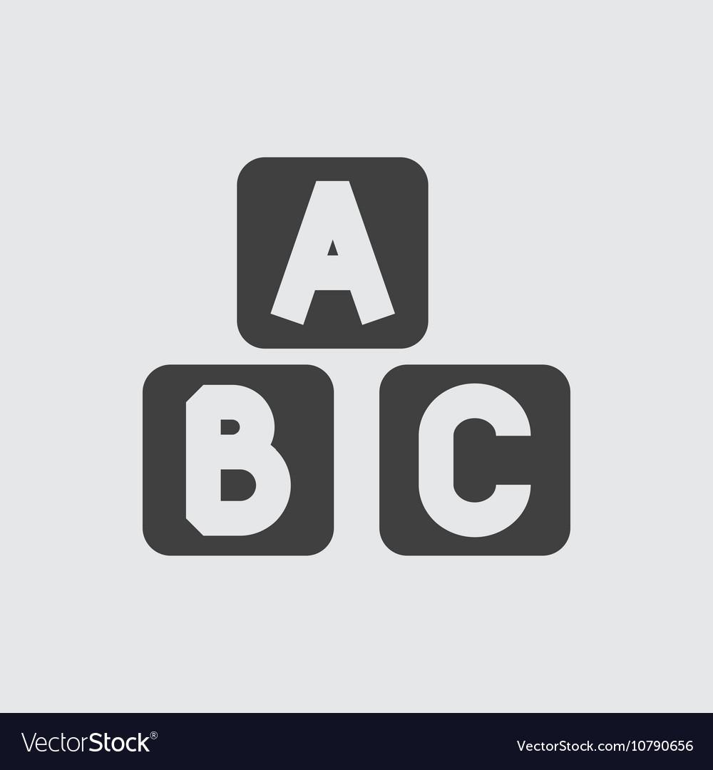 A b c block icon