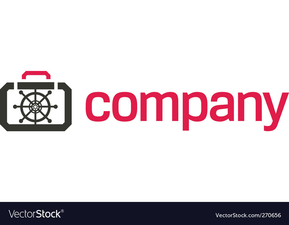 Bank safe logo security vector image