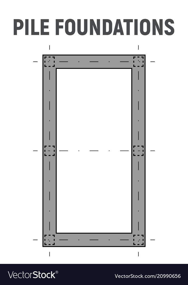 Blueprint image pile foundation