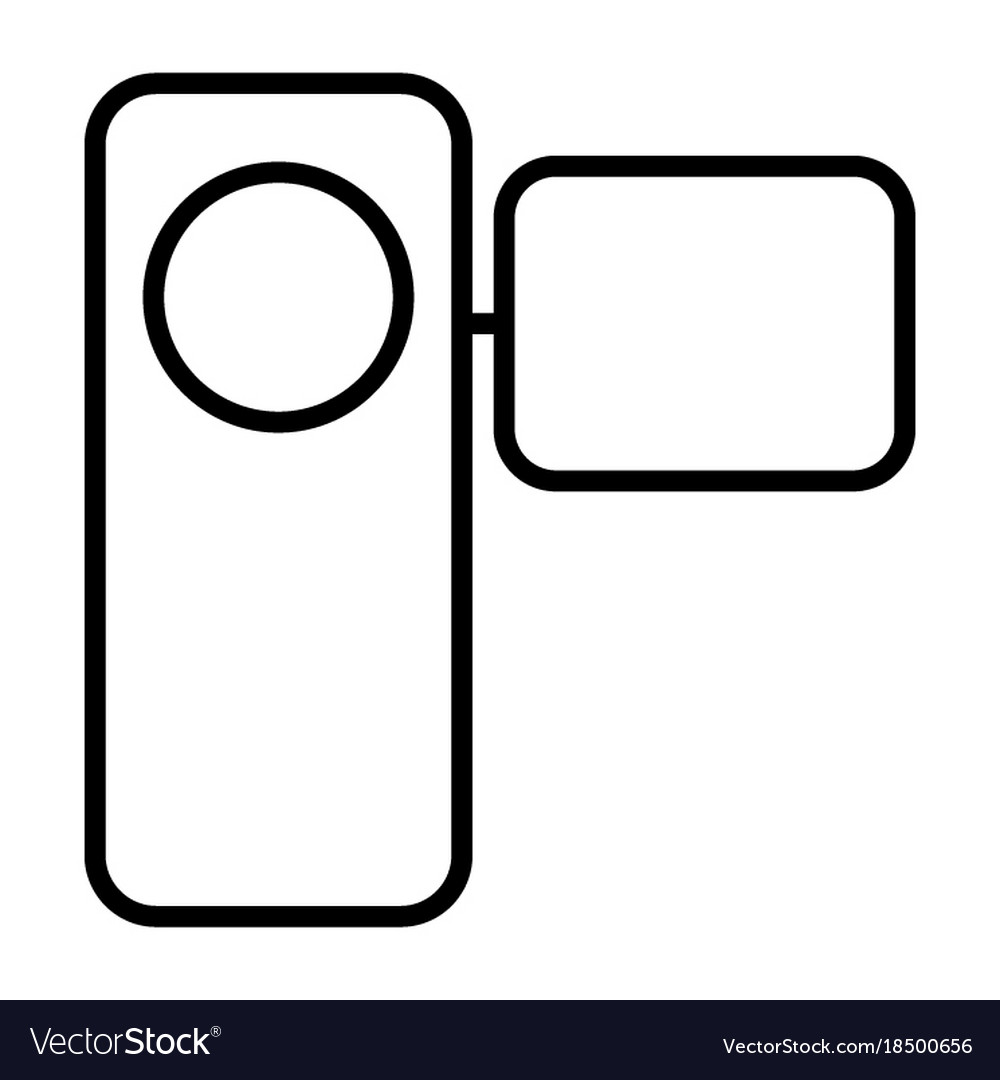 Camcorder thin line icon pictogram