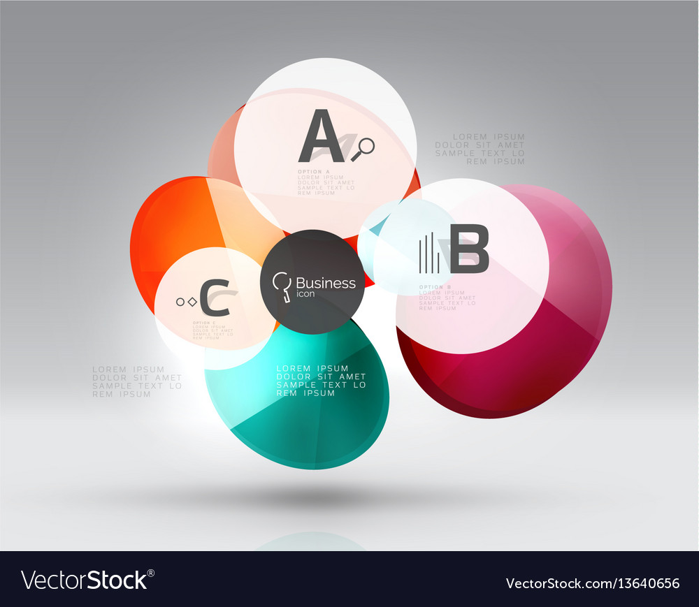 Circle modern business infographics design