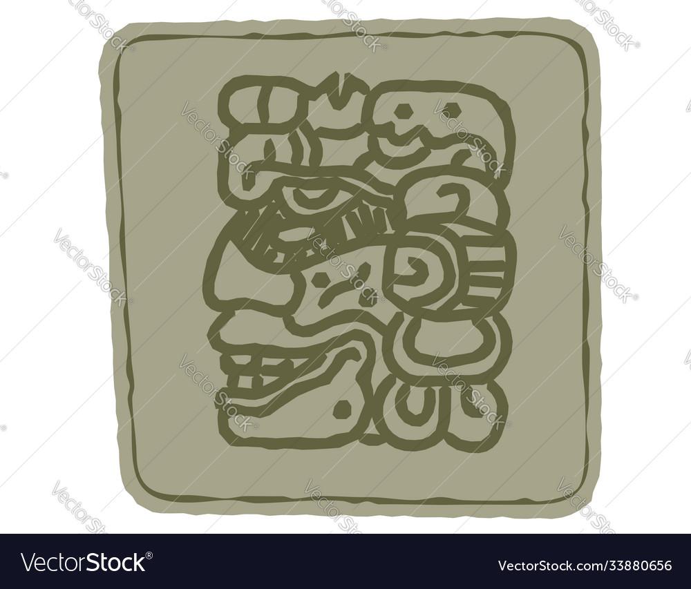 Indian art totem symbols
