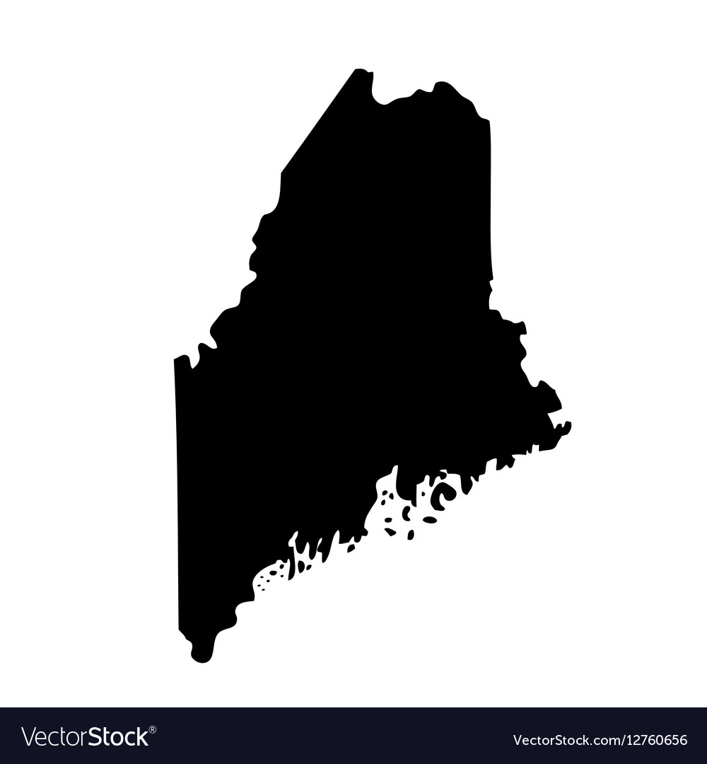 Map of the US state Maine