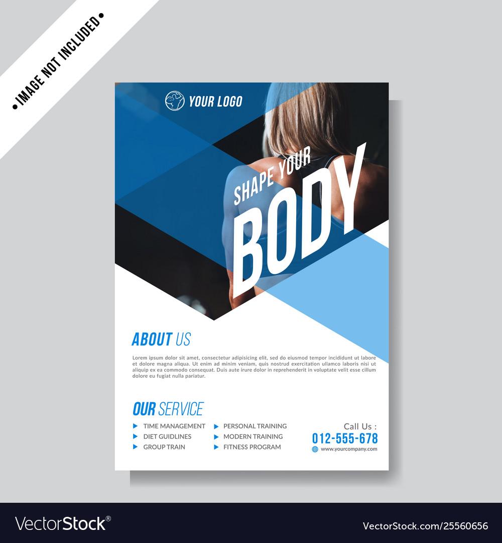 Modern sport flyer template
