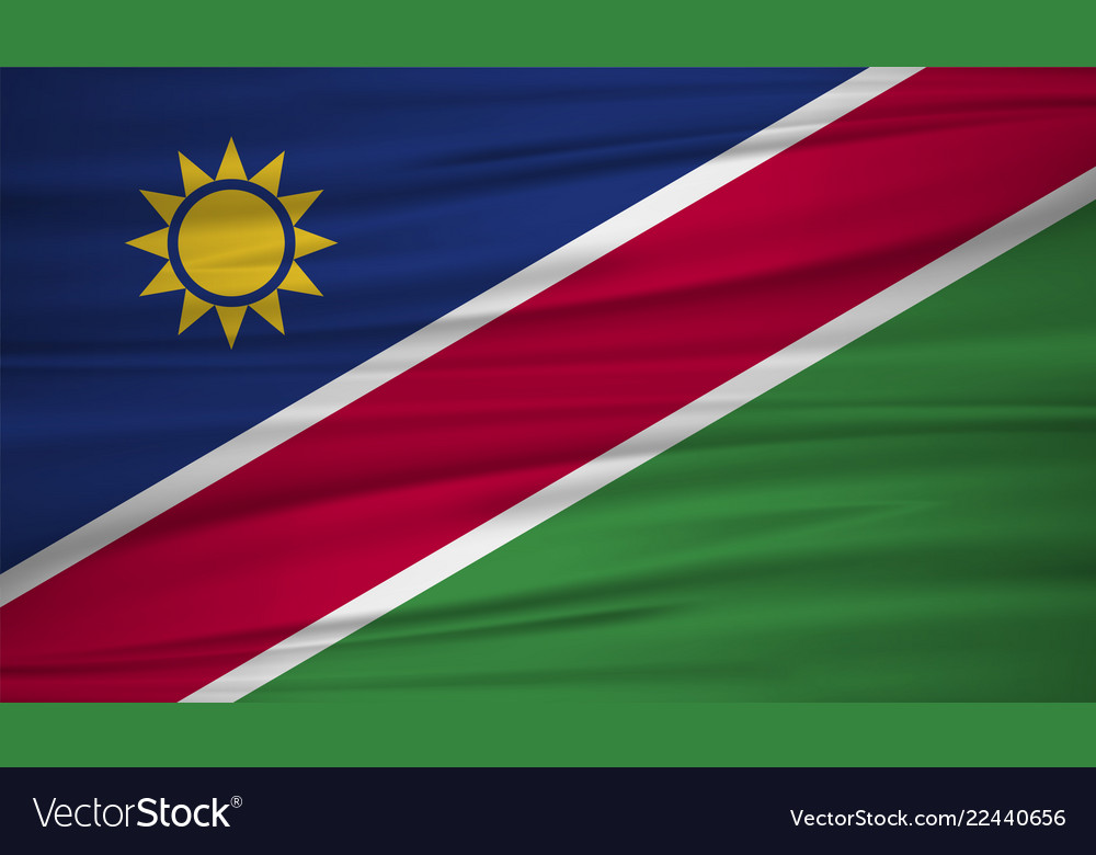 Namibia flag flag of namibia blowig in the wind