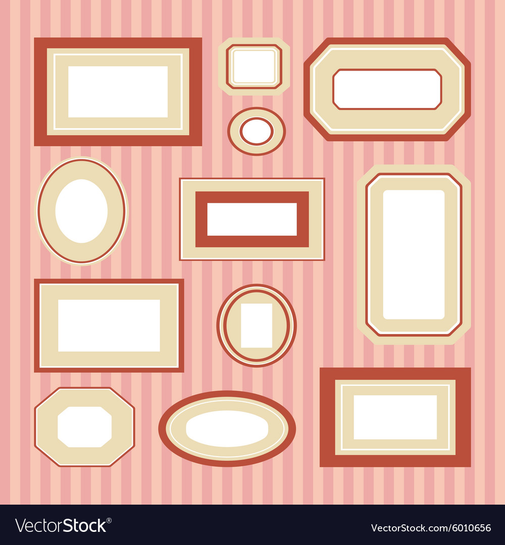 Set of colored frames Royalty Free Vector Image