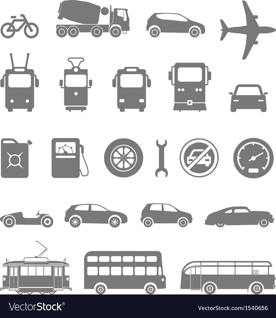 Transport silhouettes