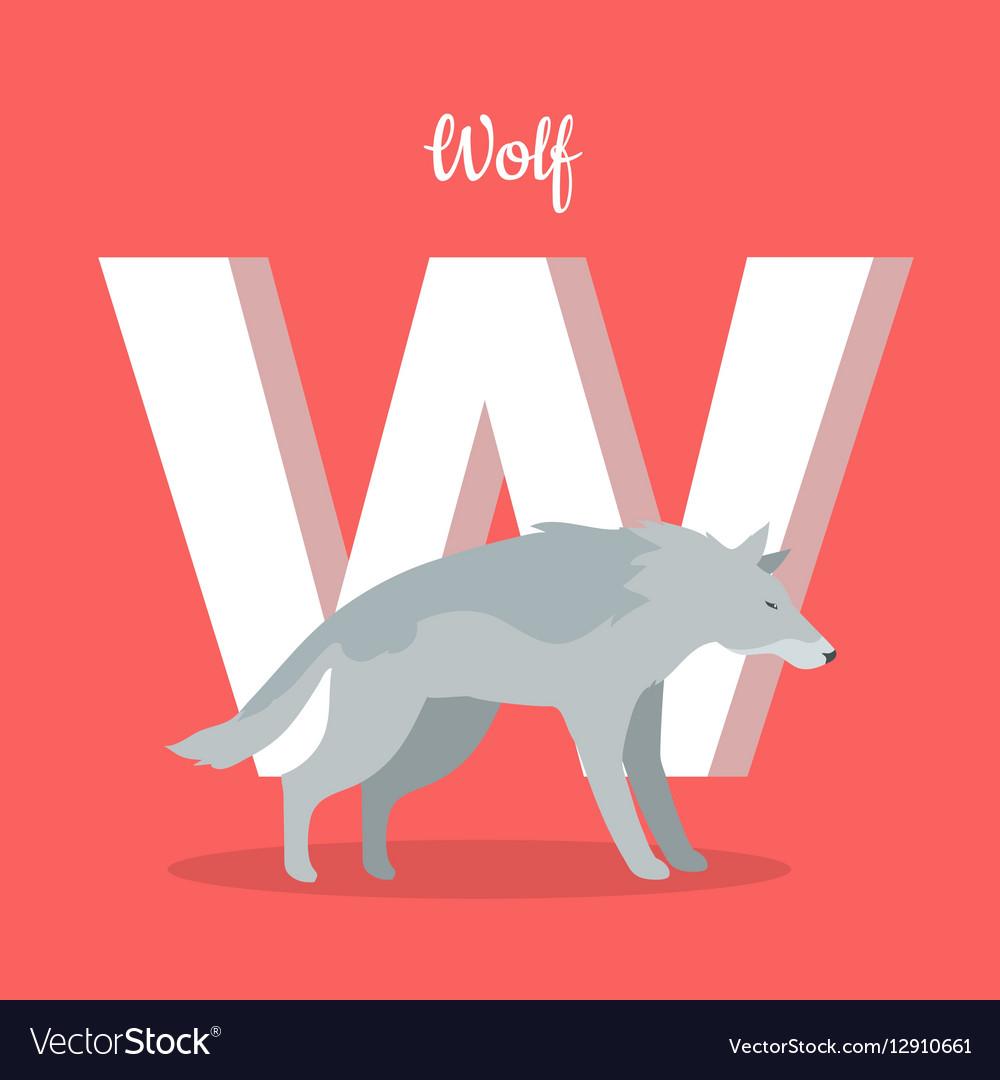 Animals Alphabet Letter - W