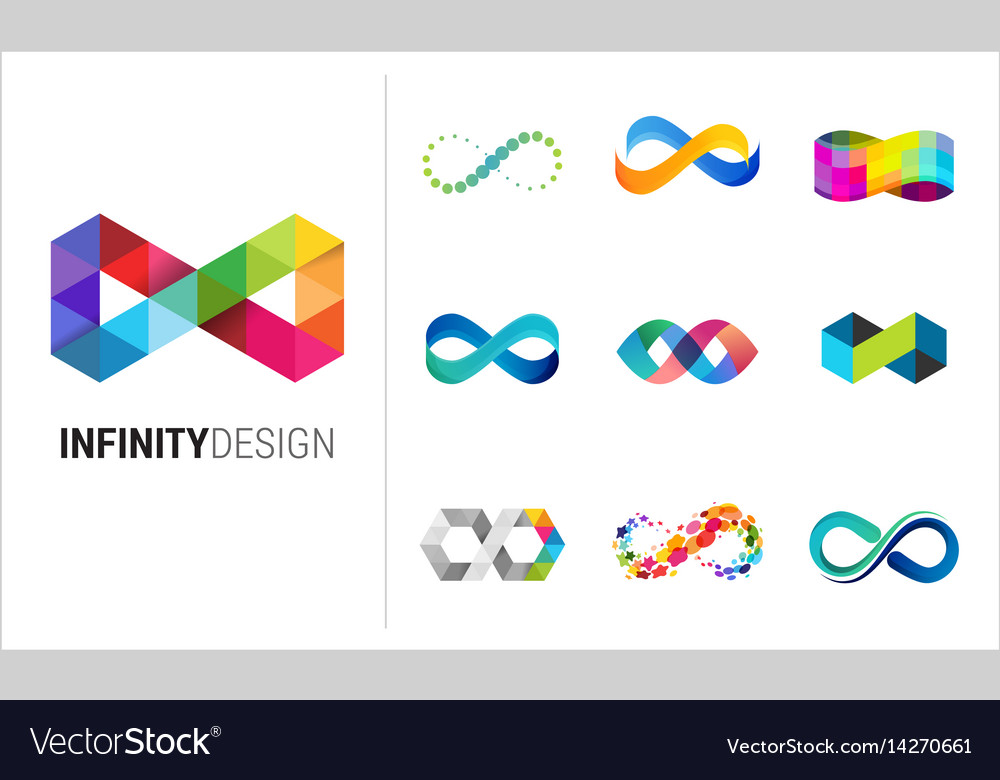 Colorful abstract infinity endless icon