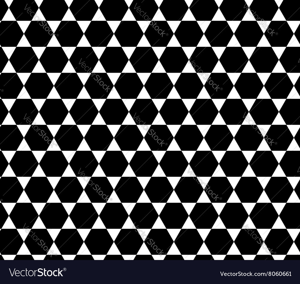 Hexagon abstract geometric seamless pattern