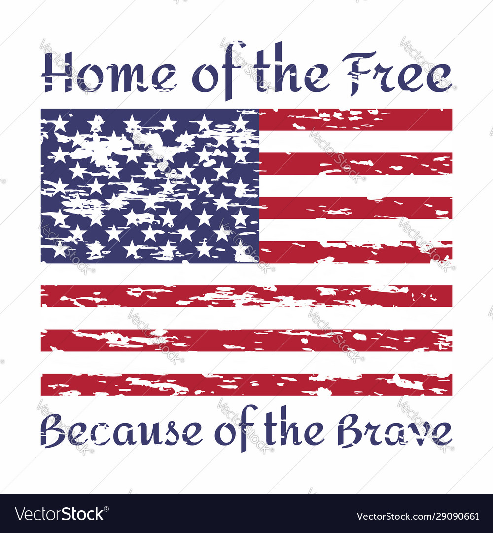 home because brave quote royalty vector image