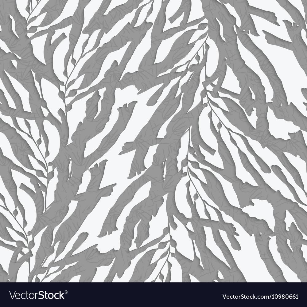 Kelp Seaweed 3d Cut Out Of Paper Royalty Free Vector Image