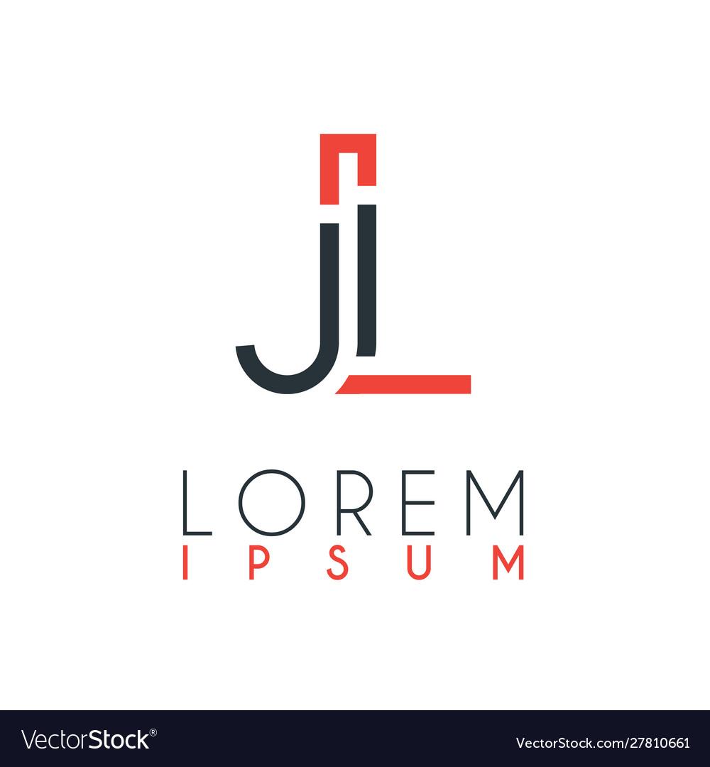 Logo between letter j and letter l or jl