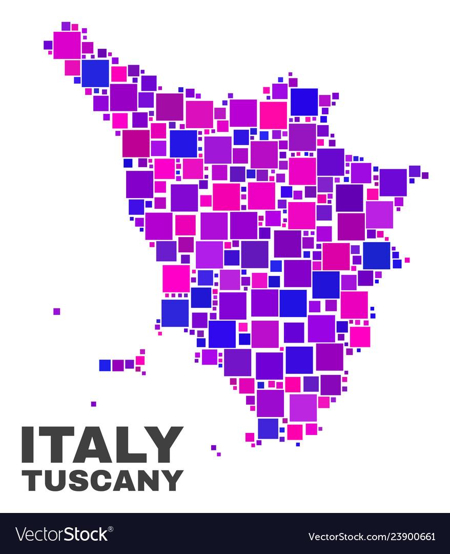 Map Of Italy Tuscany Region.Mosaic Tuscany Region Map Of Square Elements Vector Image On Vectorstock