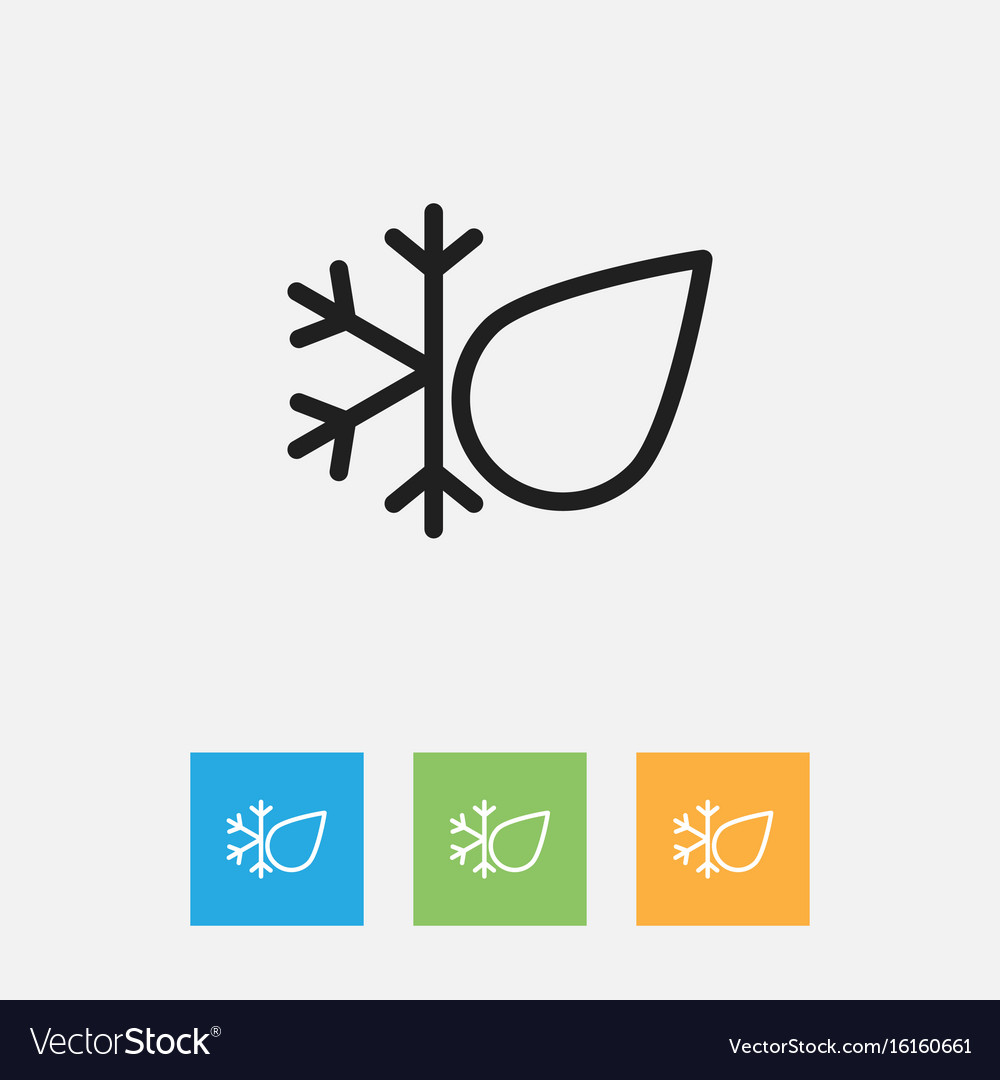 Of climate symbol on freeze