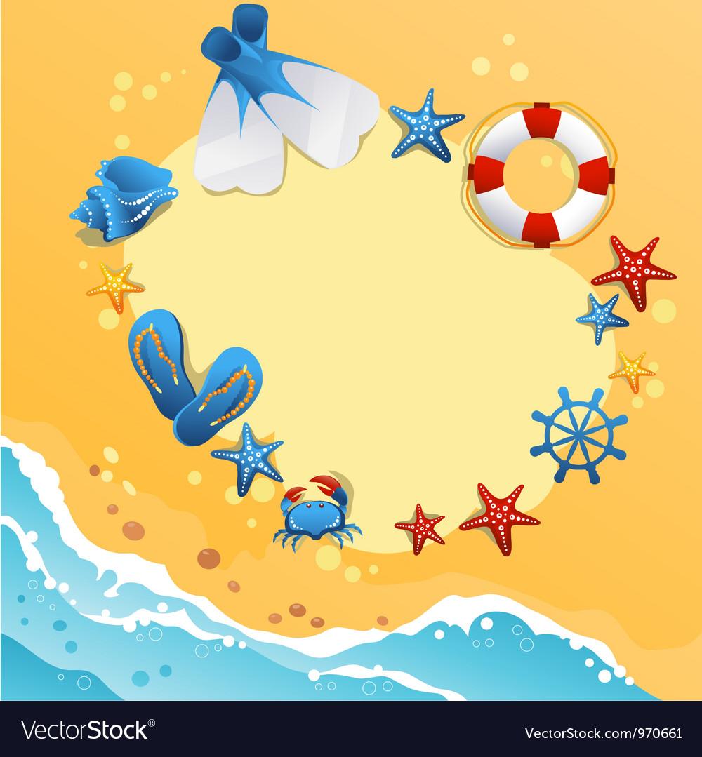 template design of summer beach banner royalty free vector